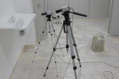 test di una piastrina su zanzare con osservazione tramite telecamere
