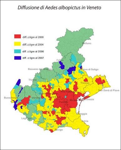 mappatura diffusione Aedes albopictus